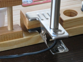 Lamp clamp - A nice detail for lamp attachment