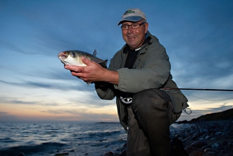 Happy Henning - Henning managed to land a mullet too - and on the same trip