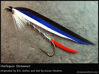 #261 - Harlequin Streamer - Beautifully tied by Eunan Hendron