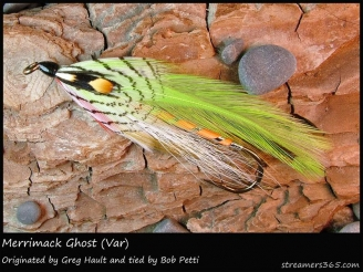 #317 Merrimack Ghost - A fly tied by GFF\'s own Bob Petti