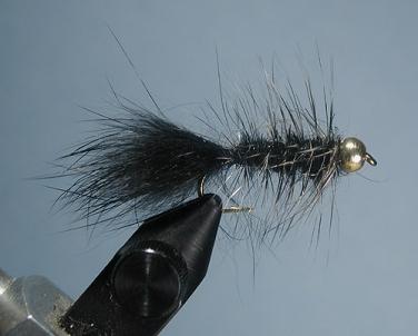 SIze 6 Freshwater Sold per 6 ***** Hot Buy Woolly bugger Orange//Black Spinner