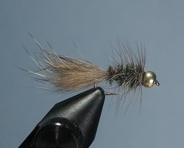 6 WOOLLY BUGGER FISHING FLIES~ Size 6 ~ Six Flies ~ BROWN