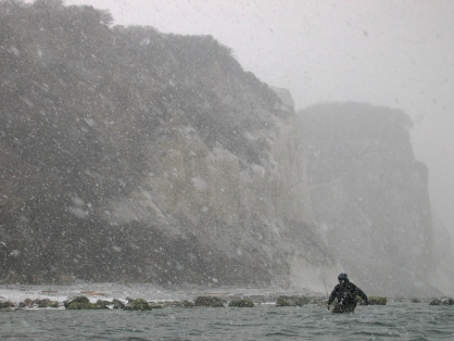 Extreme fishing - Few people fish in such weather, even fewer take pictures.