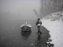 This is snow! - Most of us have been fishing on days like this, but few have the pictures