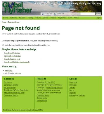 Preserving old URLs | Global FlyFisher | I'm surprised how little