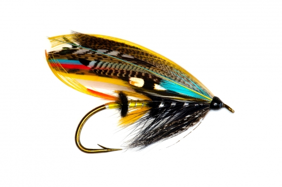 Limerick style - The Jock Scott dressed on a large and classic Limerick style wet fly hook. A combination that\'s not see very often these days, but has probably been quite common in the early 1900\'s