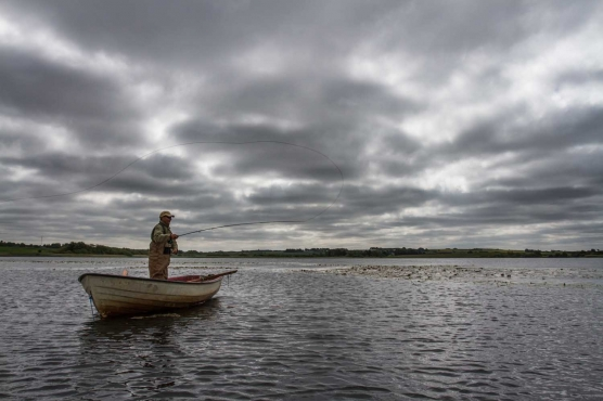 Overcast day on the lake