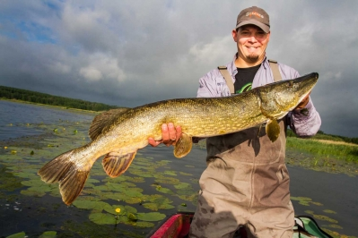 The author with a nice pike