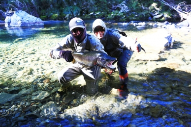 Brothers in fly fishing