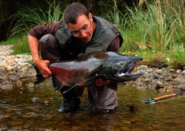 Andrej with a BC salmon