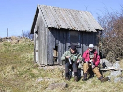 Ken Bonde and Martin Joergensen on a coffee break during Bornholm spring fishing.