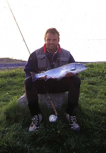 Mark Vagn Hansen with a Danish seatrout of 4.6 kilos (9 lbs.).