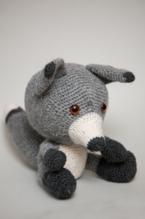 The crocheted wolf