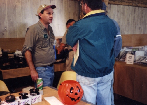 Mike at a show in 1999 Mike Hogue