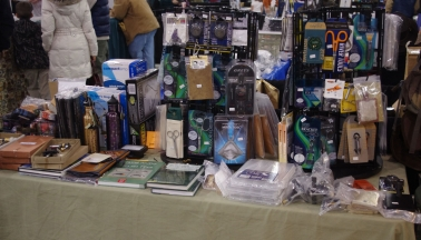 Tools in a show booth