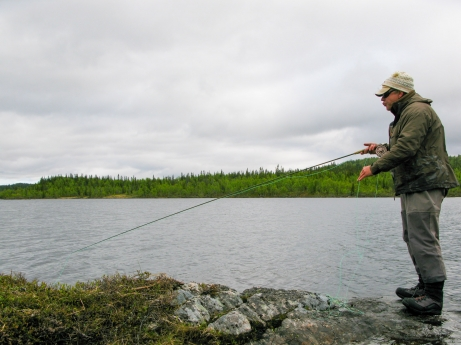 A South African fishing in Sweden