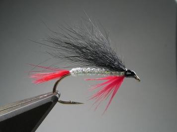 Bloody Butcher with a simple hair wing - A modern salmon/sea trout Bloody Butcher with a one section hair wing