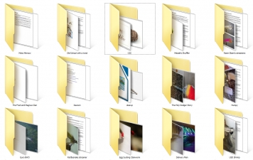 Folders of content