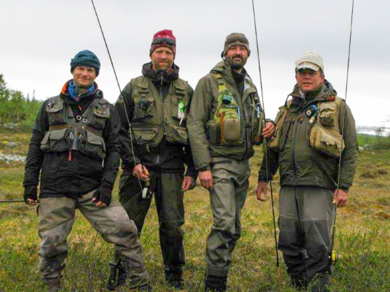 The four intrepid fly fishers