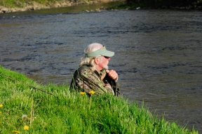 Angler taking a break from the action -