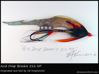 #366 Acid Drop Brookie - An alternative type of streamer made by Val Kropiwnicki