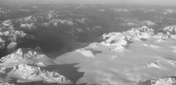 Glacier - From the airplane we saw many a glacier in  the breathtaking Canadian landscape.