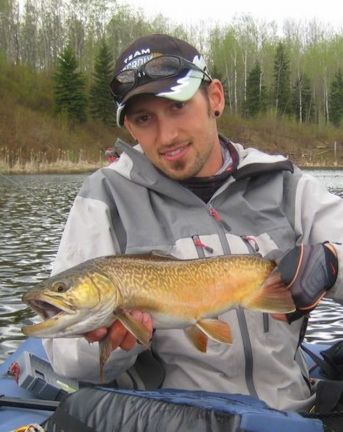Nick with a beautiful trout -