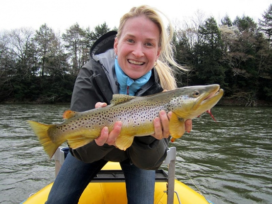 AD with a nice brown trout -