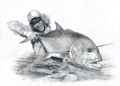 Kingfish drawing -