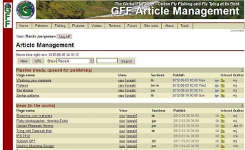 Article Management - A glimpse of the system that drives GFF
