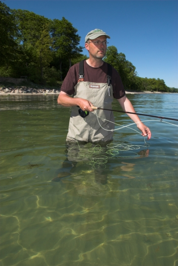 Au naturel - The best shooting lines enable you to fish with no basket under many conditions