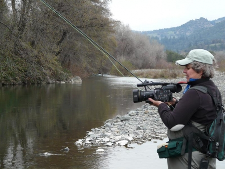 Rod and camera - Filming and fishing at the Russian River