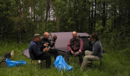 Good idea – camping by the river -
