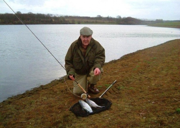 Bewl fish - The author with a couple of trout from the Bewl Water stillwater fishery in Kent, UK.