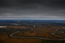 Innoko River - A view of the vast Alaskan plains with almost endless waters