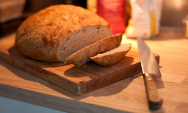 Good bread - Water, salt, yeast and flour. No bread you can buy beats the stuff you pull out of your own oven.