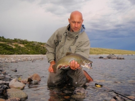 Brook trout - The author with a brook trout