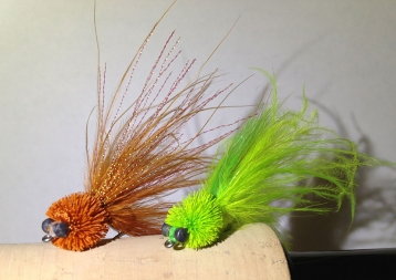 Rusty brown and chartreuse -