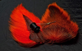 Bucktail - Most bucktail is brown in the center and white or dyed in rim and backside