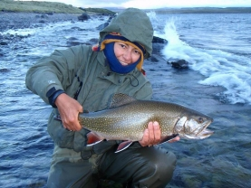 A trophy - Carolina and her true trophy brook trout
