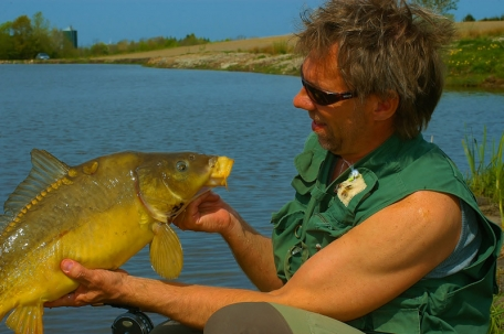 Michael with a carp -