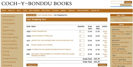 There I go again - Another online shopping cart filled with books. Next click: the checkout button