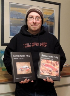 Darren MacEachern with the books - Streamers 365 Volume one and two. More books are in the pipeline
