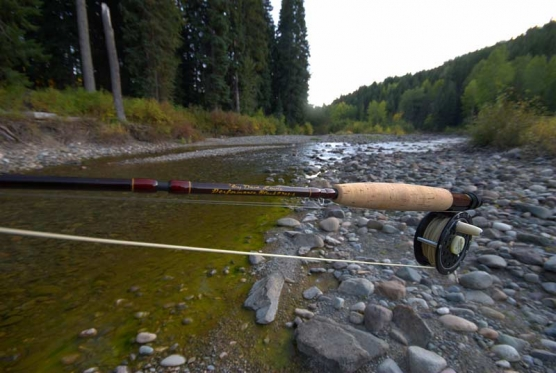 Light rod, light line - Even though I'm not particularly critical with lines, this super light Dave Lewis rod works best with a super light line