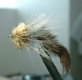 Natural Deer head zonker grey -