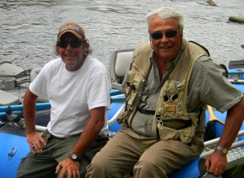 Dickie and Pedro - Happy after some productive fishing. The author\'s son Dickie (left) and the author Pedro Miles himself (right)