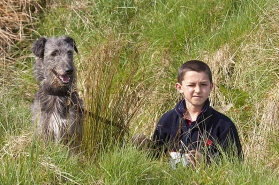 The dog and the boy -