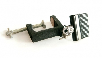 The tool - Ready to clamp on the table next to your vice. You could also use an old metal base if you have one left over from an old vice