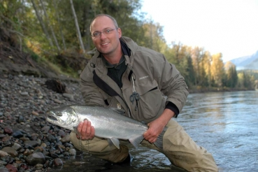Skeena steelhead - This steelhead was caught very close to our own bank