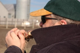 Yves testing a duck call -